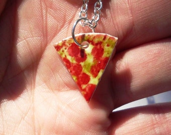 Friendship necklace, pizza necklace, pizza friendship necklace, friendship necklaces, gift for boys, bff necklace, 6 bff necklace