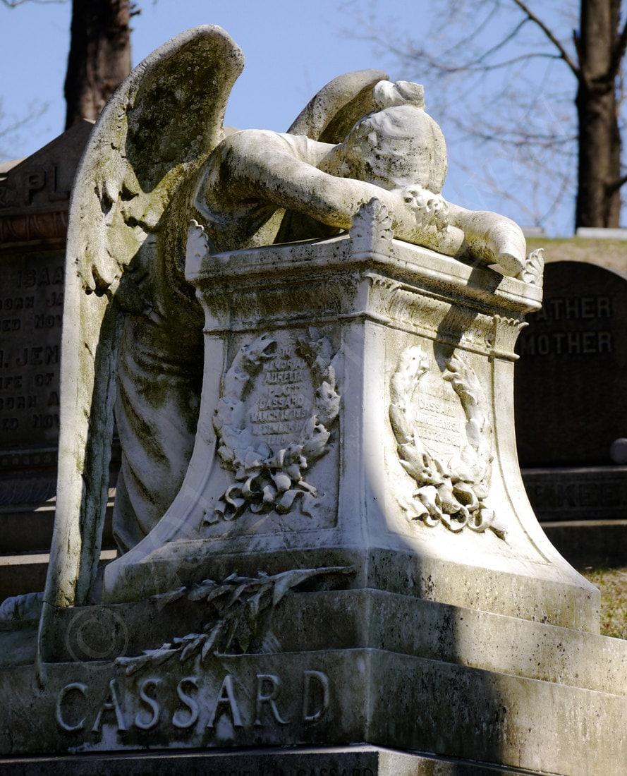 Cemetery Sculpture Angel Statue 8x10 Matted
