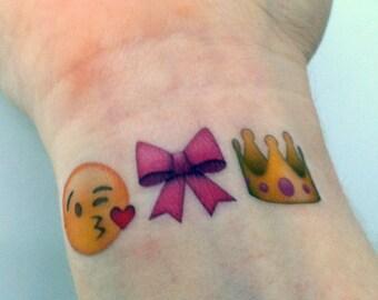 Custom Temporary Tattoos - Emoji sets - princess