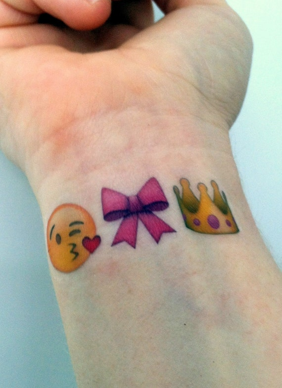 custom temporary tattoos emoji sets princess