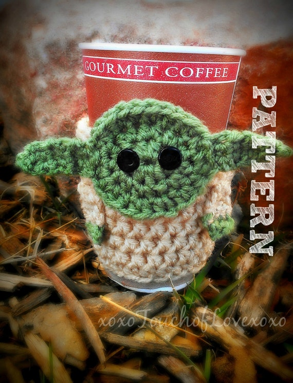 Pattern Yoda Coffee Cozy Sleeve Pattern From