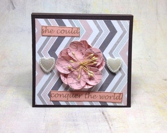 post it note holder { she could conquer }