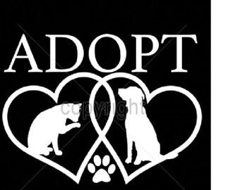 Dog & Cat Rescue Adoption T SHIRT Item no. 999j