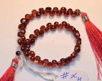 AA 8 Inch Strand 4.5-5mm Natural Mozambique Red Garnet Microfaceted Onion Briolette Beads-66 Beads Apx/Strand(x4-70 Ct)