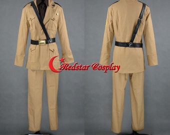 APH: Axis Powers Hetalia Italy Cosplay APH Army Uniform Cosplay Costume - Custom-Made in sizes