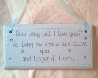 How long will i love etsy handmade shabby chic how long will i love you ellie goulding lyrics plaque thecheapjerseys Gallery