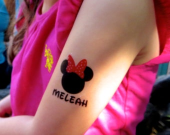 Minnie Mouse Temporary TATTOOS