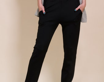 Black trousers, straight pants winter pants,women's fashion, comfortable pants, pencil pants, women's pants