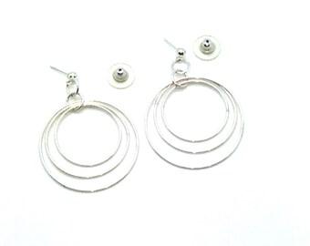 What Goes Around, Sterling Silver, Hoop Earrings, Post Earrings, Gift Idea