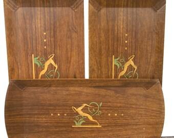 Hasko Gazelle Buffet Trays, Set of Three