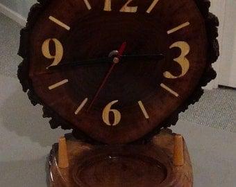 Wooden, Desk ,Clock,