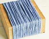 Thick Cotton Twine in Steel Blue Gray Shimmer - 10 Yards - Packaging Gift Wrapping String Cord Trim Ribbon Pretty Vintage Party Decor