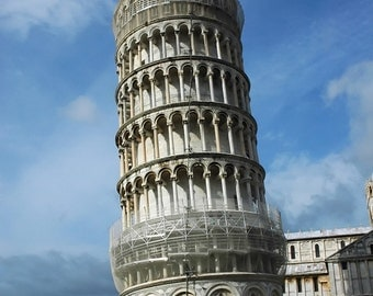 Leaning Tower Of Pisa, Italy, Pisa, Old Builings, Famous Landmarks, Wall