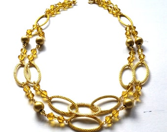 PREY Amber & Gold Chain Necklace