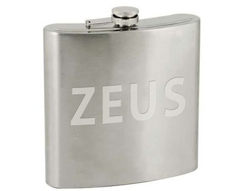 40oz Stainless Steel Flask w/ Etched Personalization