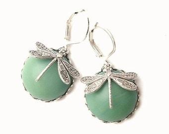 Earrings dragonflies
