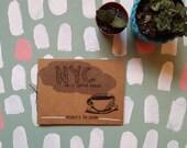 NYC sketchbook zine. Vol. 1: Coffee Crawl