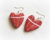 Red hearts Earrings Heart...