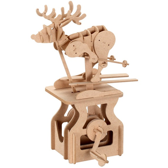 3D Wooden Puzzle Moving Model Kit DIY Moving Mechanical Wooden