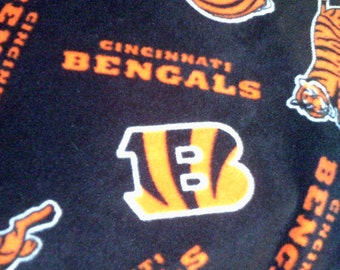 SALE NFL Cincinnati Bengals Fleece Throw Blanket