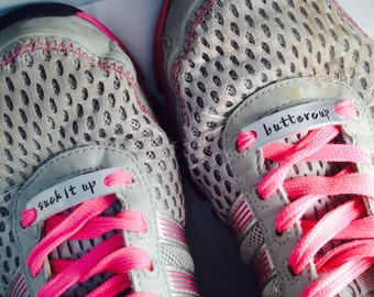 Running Shoe Charms ~ Custom Marathon Affirmation ~ Runner Motivation~ Inspirational Shoe Quotes ~ Athlete Accessory ~ Shoe Lace Charm