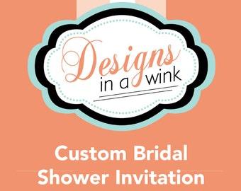 Printable Custom Bridal Shower Invitation