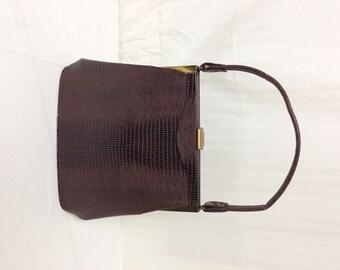 Vintag purse, 1950s,1960s ,Croc Embossed ,Handbag