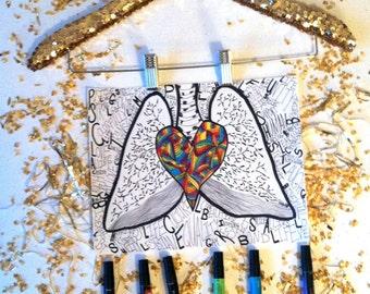 LGBT Art Print - Love = Colorfully