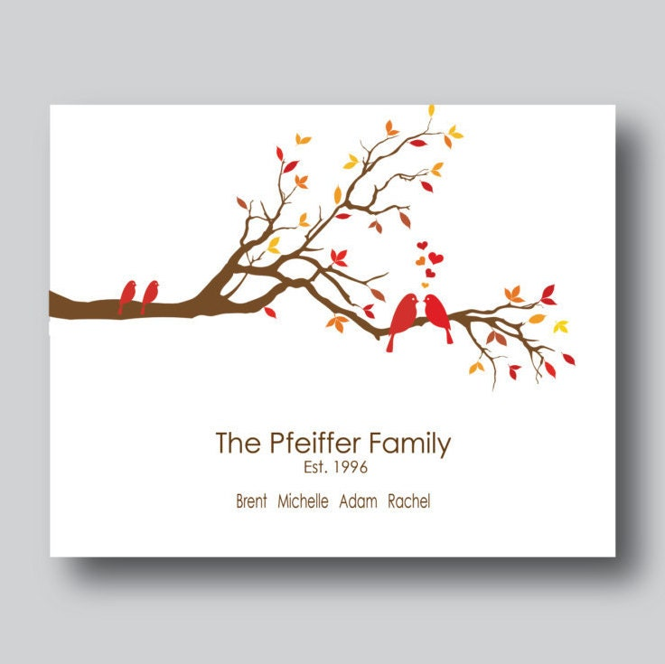 Modern family tree print personalized family by mdesigncompany for Modern family printer