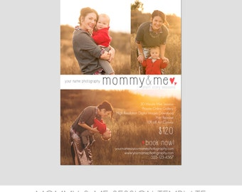 INSTANT DOWNLOAD - Mother's Day Mini Session Photography Template - Mommy & Me Marketing Template - Colorful Spring Design - Easy to Use