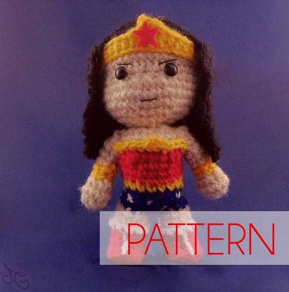 PDF CROCHET PATTERN Chibi Wonder Woman Inspired amigurumi ...