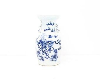 Chinese Blue and White Celadon Vase
