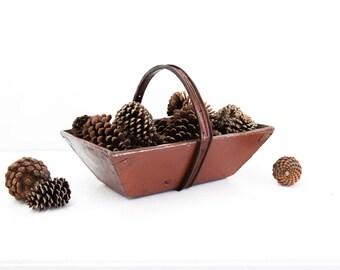 Burgundy Wooden Garden Basket