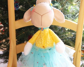 Handmade stuffed toy sheep lamb decoration of your home