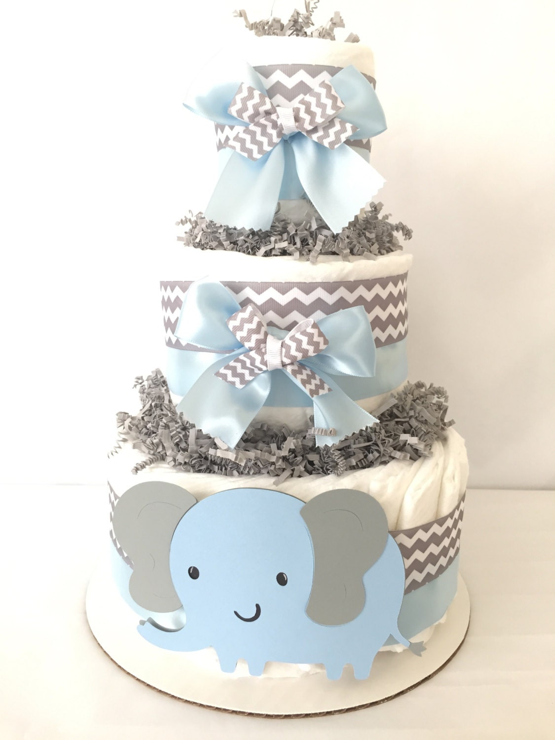 Baby Shower Cakes Unique ~ Elephant diaper cake baby shower cakes