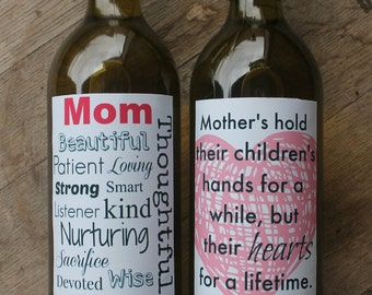 Mother's Day Printable Wine Labels - Smart Party Planning
