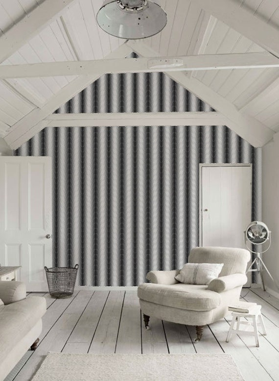 Peel and stick black and white self adhesive vinyl wallpaper for Vinyl peel and stick wallpaper