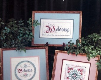 Be Welcome, Friend By Pam McKee Vintage Cross Stitch Pattern Leaflet 1988