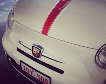Fiat 500 Abarth Vinyl Hood Decal