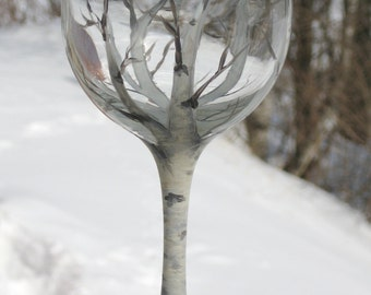 Seasonal Birch Wine Glasses