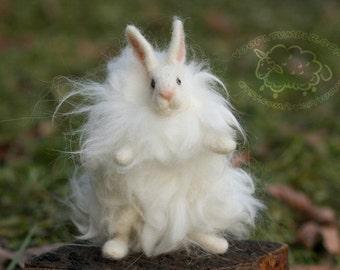 Angora Rabbit - Needle Felted