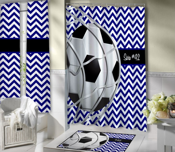 cool fu ball duschvorhang navy chevron duschvorhang fu ball. Black Bedroom Furniture Sets. Home Design Ideas