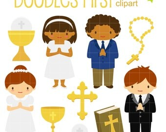 First communion clipart – Etsy UK