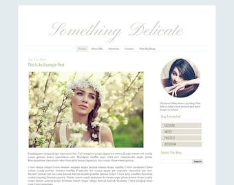 Fashion Blogger Template - Simple Clean Modern Blog Design - Blog Theme - Blog Layout - Blog Template