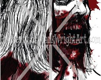 "Autopsy Zombie/Walker from The Walking Dead 11"" x 17"" Original Art Print/Poster"