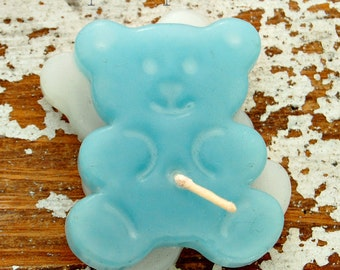 Bear/ shaped floating candles / handmade candles