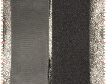 "4"" wide Hook and Loop Velcro Sew On - One Yard (36"") - Black - FREE SHIPPING!"