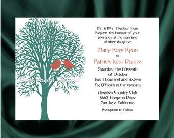 Tree Bird Wedding Invitation & RSVP Tree Wedding Invitations  Tree Lovebird Wedding Invitation - Tree Design 8