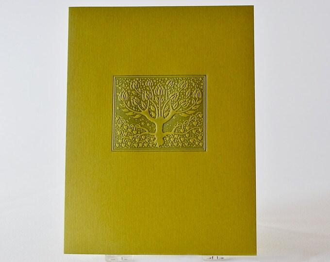 Letterpress Love Tree Card. Love Card. Green Card. Notecard. Valentine. Anniversary card. Single Card. Blank Inside