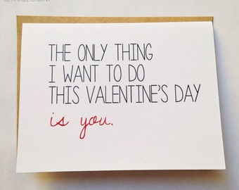 naughty valentines card etsy